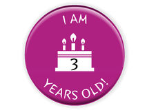 Birthday batch concept. I have created birthday batch concept in  format Royalty Free Stock Photography