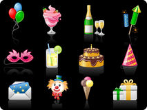 Birthday_black background Stock Photos