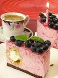 Birthday blueberry cake Stock Image