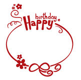 Birthday border Royalty Free Stock Images
