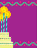 Birthday Border Stock Photo