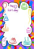 Birthday border Royalty Free Stock Photography