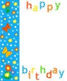 Birthday border, card Royalty Free Stock Photo