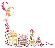 Birthday border Stock Images