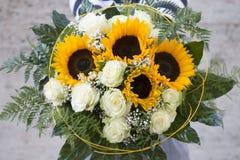 Birthday bouquet stock photo
