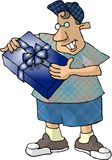 Birthday Boy. This illustration that I created depicts a boy holding a wrapped birthday gift Royalty Free Stock Photo