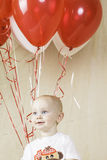 Birthday Boy with Balloons Royalty Free Stock Image