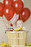 Birthday Boy with Sock Monkey Royalty Free Stock Photography