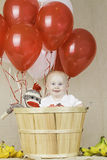 Birthday Boy with Sock Monkey Royalty Free Stock Images