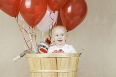 Birthday Boy with Sock Monkey Stock Photography