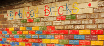 Birthday bricks Stock Images