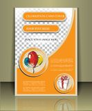 Birthday brochure Royalty Free Stock Images