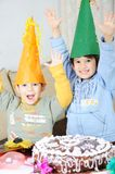 Birthday, brothers, togetherness Stock Images