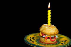 Birthday Burger Royalty Free Stock Photo