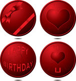 Birthday button Stock Images