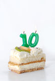Birthday cake 10 year Royalty Free Stock Photos