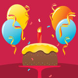 Birthday Cake. Surprise birthday party and birthday cake Royalty Free Stock Photos