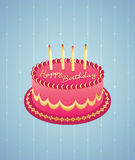 Birthday Cake. Coated with sugar and cream birthday cake Royalty Free Stock Images