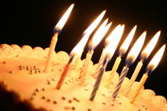 Birthday cake. Cake with candles Royalty Free Stock Photo