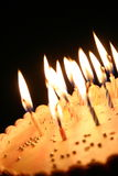 Birthday cake. Cake with candles Stock Photo