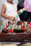 Birthday cake. Photograph ob birthday cake in party Royalty Free Stock Image