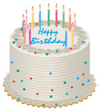 Birthday cake royalty free illustration