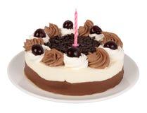 Birthday cake. Isolated on white background stock images