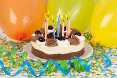 Birthday cake. With colorful decoration Stock Image