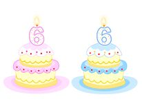 Birthday cake stock illustration