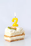 Birthday cake 2 year Stock Photography