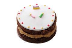 Birthday cake. Isolated birthday cake on white background stock image