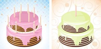 Birthday cake. For use in design vector illustration
