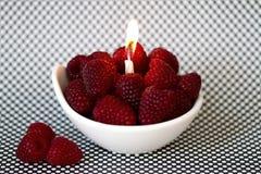 Birthday cake. Birthday raspberries cake - delicious and health Royalty Free Stock Photography