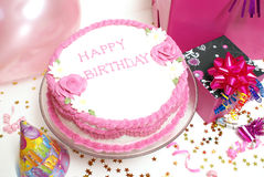 Birthday Cake. A birthday cake for any aged female royalty free stock images
