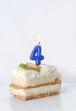Birthday cake 4 year Royalty Free Stock Photo