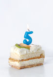 Birthday cake 5 year Stock Images