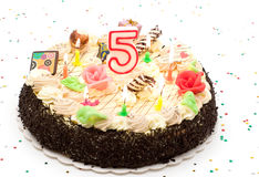Birthday Cake 5 Years Stock Images