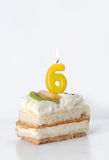 Birthday cake 6 year Royalty Free Stock Images