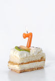 Birthday cake 7 year Royalty Free Stock Images