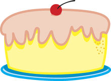 A birthday cake. With a cherry on top royalty free illustration