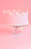 Birthday cake. Beautiful pink happy birthday cake Royalty Free Stock Images