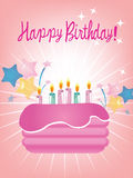 Birthday cake. Pink birthday cake for you Royalty Free Stock Photo