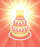 birthday cake Στοκ Εικόνες