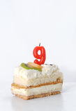 Birthday cake 9 year Stock Image