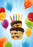 Birthday cake background Royalty Free Stock Image