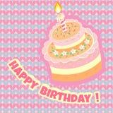 Birthday cake on the background Royalty Free Stock Photo