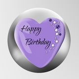 Birthday cake  on background. Vector Illustration for use as a Birthday Card, pastry logo, festive background Royalty Free Stock Photography