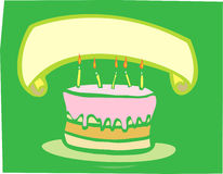 Birthday Cake Banner Royalty Free Stock Image