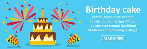 Birthday cake banner horizontal concept Stock Photos