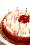 Birthday Cake Blown Out Candles Stock Photography